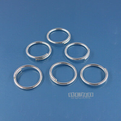 6PC Solid Sterling Silver 11mm 18 Gauge/1mm Split Jump Ring Connector #33118