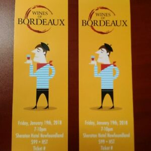 2 TICKETS TO NLC WINES OF BORDEAUX
