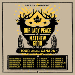 2 tickets Our Lady Peace/Matthew Good @ Bud Gardens