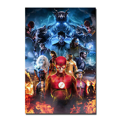 The Flash TV Series Superhero Silk Wall Art Poster Prints Decor 12x18 24x36 inch - Superhero Poster