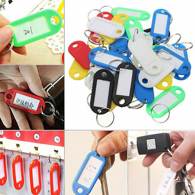 50Pcs Keychain Key Ring ID Sports Tags Name Card Label Luggage Tags New