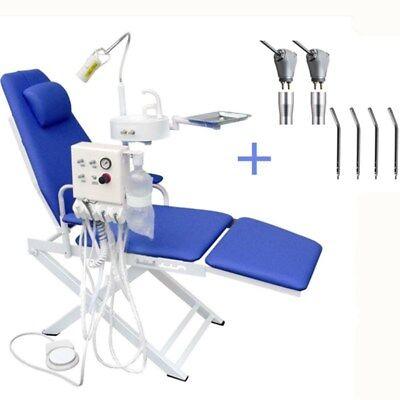 Portable Dental Mobile Chair Turbine Unit Waste Basin 4h 2 Triple Syringe