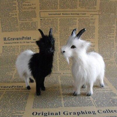 Mini Black   White Simulation Sheep Goat Plush Toys Furnishing Decoration Props