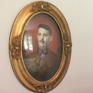 antique  oval frames with bubble glass