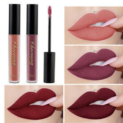 12-Colors Sexy Long Lasting Waterproof Ultra Matte Liquid Lipstick Moisturizer ()