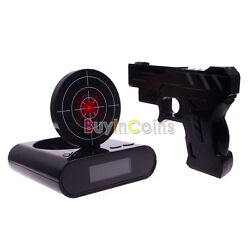 Novelty Funny LCD Shooting Game Target Panel Gun Alarm Clock Gadget Gift Toy NE