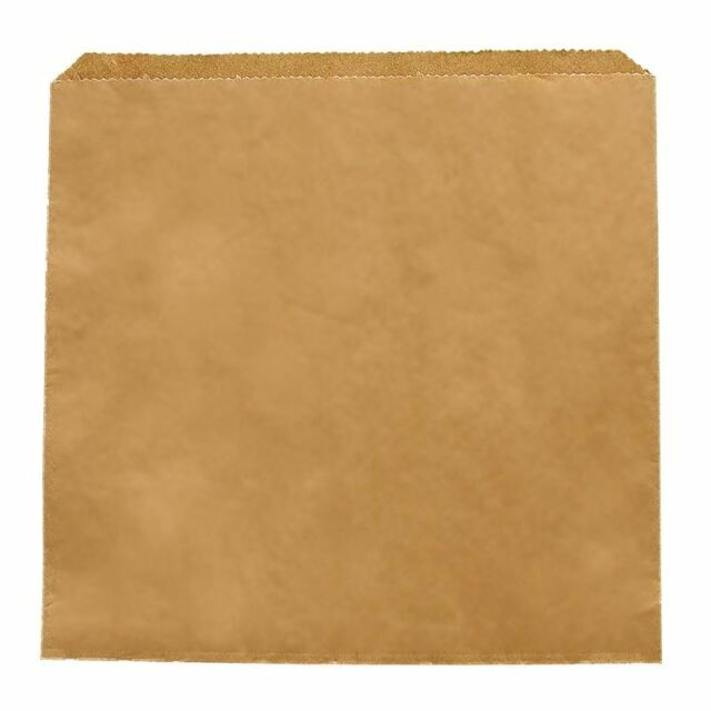1000X Vegware Sandwich Brown Kraft Paper Food Bags 216X216mm Restaurant