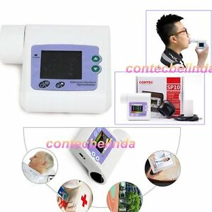 Digital Spirometer Lung Breathing Diagnostic Spirometry Volumetric CONTEC SP10