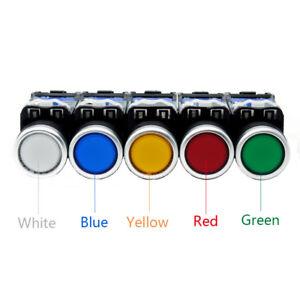 1PCS-12-24-220-380V-LED-Momentary-Push-Button-Illuminated-Switch-1NO-NC-22MM
