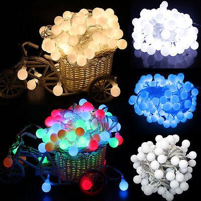 100 LEDs Boule Ronde Globe Guirlande Lumineuse 8 Modes Jardin D