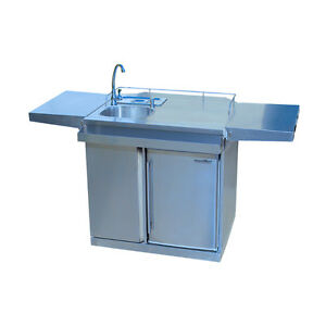 KITCHEN CART OUTDOOR & BEVERAGE CENTRE WITH FRIDGE AND SINK