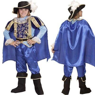 Adeliger PRINZ edles Kinder Kostüm für Jungen Herrscher Mittelalter - Junge Cher Kostüm