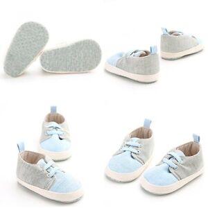 Newborn-Baby-Kids-Boys-Girls-Laces-Crib-Shoes-Soft-Sole-Sneaker-Prewalker-0-18M