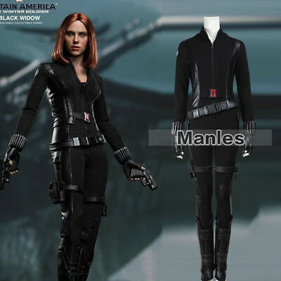Black Widow Captain America Costume The Winter Soldier Natasha Cosplay Fancy Dre (Woman Soldier Costume)