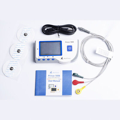 Heal Force Prince180b Portable Lcd Ecg Ekg Heart Monitor Electropad Ecg Cable