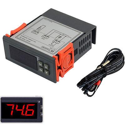 220v Digital Temperature Controller F Fahrenheit Thermostat Probe Temp Sensor