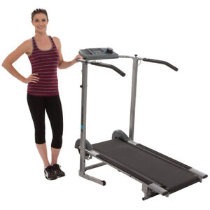 100Xl Magnetic Resistance Manual Treadmill w/ Heart Pulse System