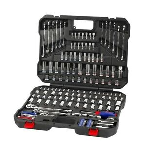 WORKPRO 164-piece Socket Set Mechanic Tool Kit with Case