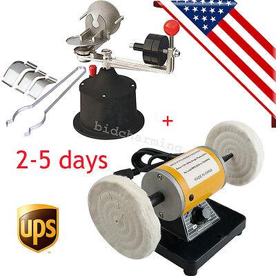 Usa Dental Polishing Mini Lathe Polisher Centrifugal Centifuge Casting Machine