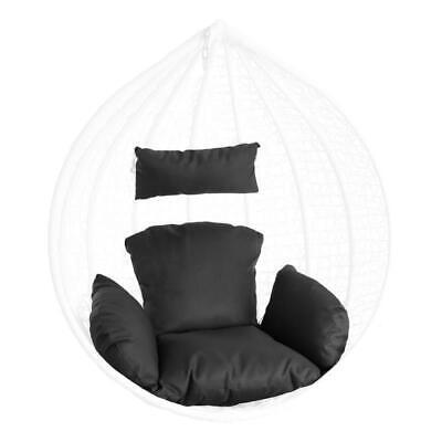 Sitzkissen Auflage Kissen für Hängesessel Sitzpolster Rückenpolster Anthrazit