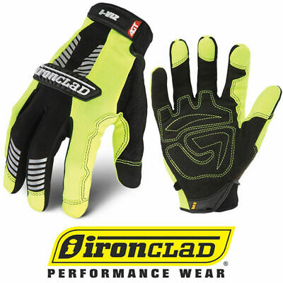 Ironclad Ivg2 Hi-vis Green Reflective Safety Work Gloves - Select Size