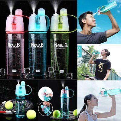 Sport Yoga Cycling Mist Spray Water Gym Beach Bottle Leak-proof Drinking Cup HOT