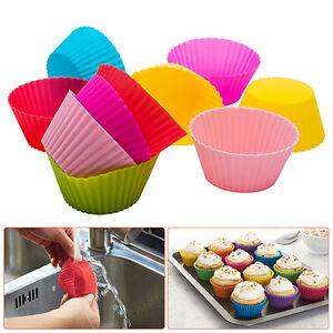 24x Silikon Muffinform Backform Muffinförmchen Kuchenform Cupcake Muffins Set
