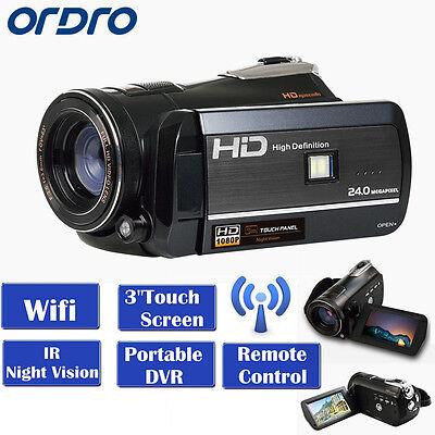 Ordro HD HDV-D395 Digital Video Camcorder 1080P @ 30fps Wifi-Anschluss Camcorder 30fps Digital Video