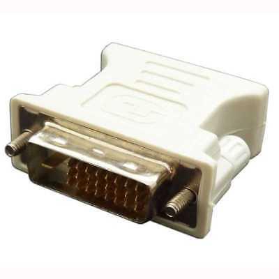 Adaptador Conversor de DVI-D 24+1 pines Dual-LINK Macho VGA A Hembra 15...