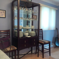 Glass curio / hutch - Shermag Florence collection