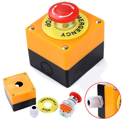 660v 10a Big Red Sign Emergency Stop Push Button Actuator Switch Weatherproof
