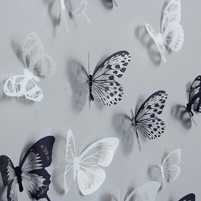Home Decoration - 18Pcs 3D DIY Wall Decal Stickers Butterfly Home Room Art Decor Decorations AU