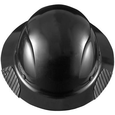 New Lift Safety Hdf-15kg Dax Full Brim Black Hard Hat W Ratchet Suspension