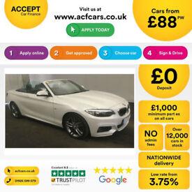 White BMW 220 Petrol 2.0 2015 i M Sport FROM £88 PER WEEK!