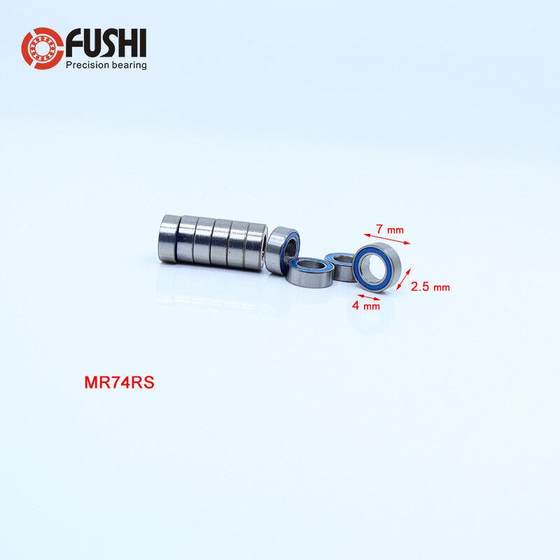 10 PCS 5x9x3 mm MR95-2RS BLACK Rubber Sealed Ball Bearing Bearings MR95RS