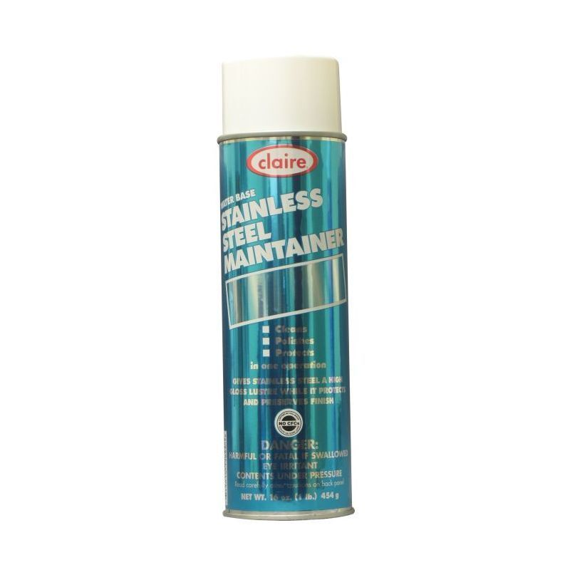 Claire Stainless Steel Maintainer, 20 oz aerosol, 12 Per Case