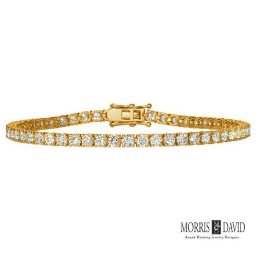 3.00 CT Natural Diamond Tennis Bracelet G-H SI 14K Yellow Gold 2.6 mm width