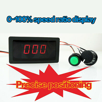 Dc 6-30v 12v 24v 8a Pwm Motor Speed Controller With Digital Display Switch