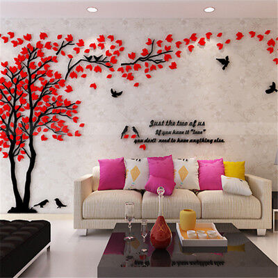 Removable 3D Tree Wall Art Stickers Vinyl Decal Mural TV Background Home Decor