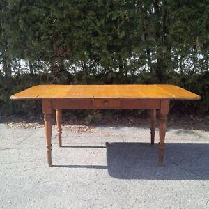 Table a battants antique - fin 1800's