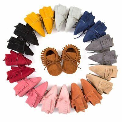 Baby Infant Boy Girl (Baby Kids Moccasin Soft Crib Shoes Boy Girl Infant Tassel Shoes Prewalkers USA )