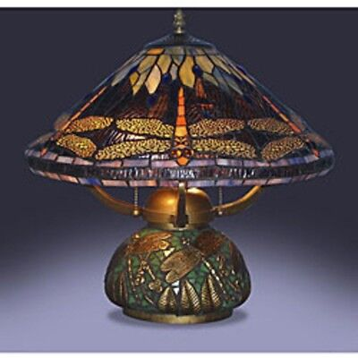 Table Lamps For Living Room Tiffany Style Dragonfly Mosaic Base Small Bedroom  ()