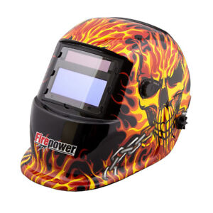 NEW Welding Helmet - Skull & Flames