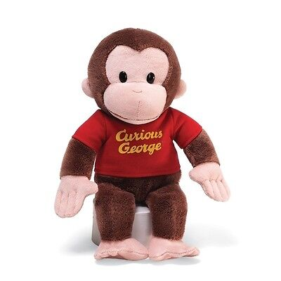 """Gund Curious George 12"""" Red Shirt 4029019 Plush Toy NEW"""
