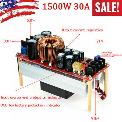 1500w 30a Voltage Step Up Converter Boost Cc Cv Power Supply Module Us