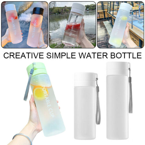 sports water bottle portable gym travel clear