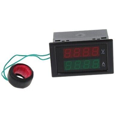 Ac80-300v 100a Current Ammeter Panel Voltmeter Dual Led Display Volt Amp Gauge
