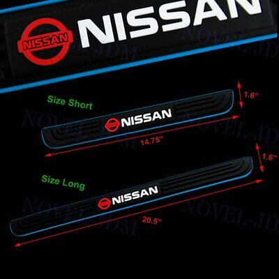 Black Rubber Car Door Scuff Sill Cover Panel Step Protector for Nissan New 4PCS