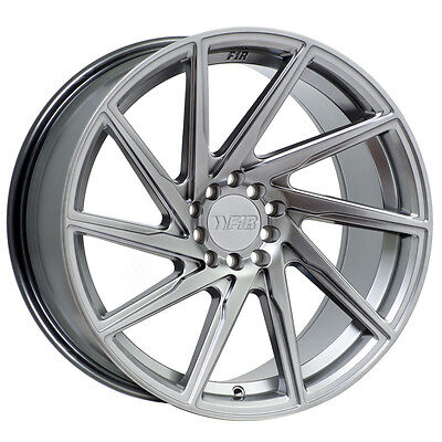 F1R F29 18x8.5 5x100 5x114.3 ET+38 Hyper Black Civic Accord TC FRS WRX Mazda3