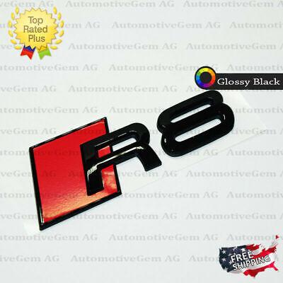 Audi R8 Emblem Glossy Black Rear Trunk Lid Letter Badge S Line Logo Nameplate